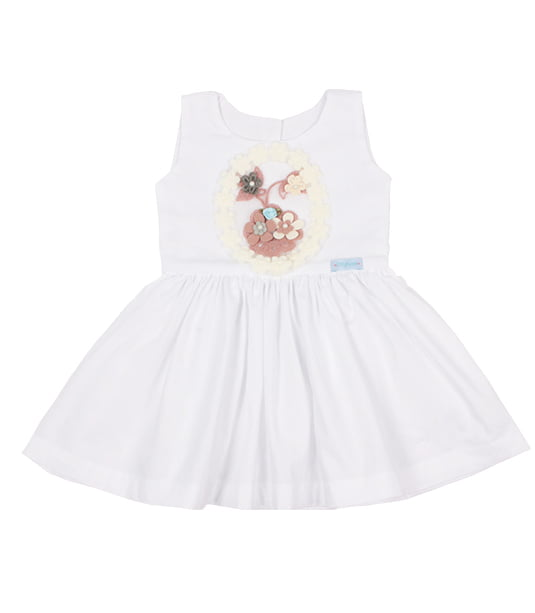 HAPPY NEW YEAR - VESTIDO INFANTIL BRANCO L'AMOUR TOUJOURS