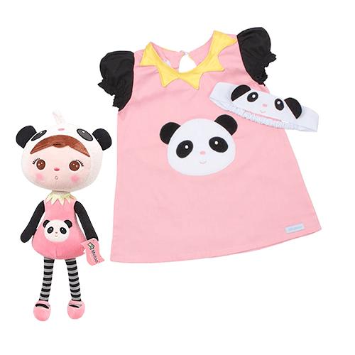 Combo Infantil Metoo Doll Jimbão Panda (Conjunto Infantil Panda + Boneca Panda Original)