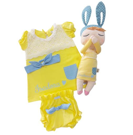 Combo Metoo Doll Amarelo Name (nome personalizado)