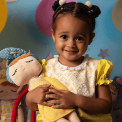 Conjunto Infantil Metoo Doll Angela Amarelo Fantasia Temático