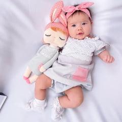 Conjunto Infantil Metoo Doll Angela Cinza Fantasia Temático