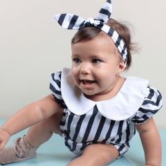 VESTIDO INFANTIL FESTA BONECA LISTRADO