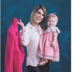 Kit Vestido Infantil Jardim Encantado Rosa