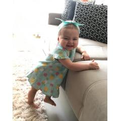 VESTIDO INFANTIL PARA MENINA PATRICINHA ESTAMPA ABACAXI