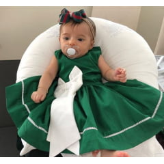 VESTIDO INFANTIL SANTA CLAUS NATAL